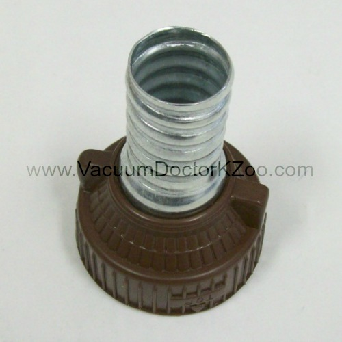 Filter Queen Hose Coupling, Machine End w/Threads Brown