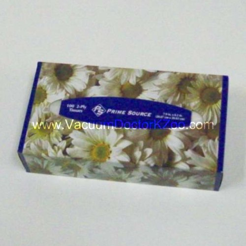 Facial Tissue 2-ply 100ct White - each