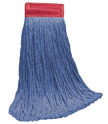 "24 OZ BLUE Blend CUT-END Wet Mop--5"" BAND"
