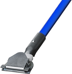 "1"" X 60"" CLIP-ON STYLE DUST MOP HANDLE - BLUE METAL HANDLE"