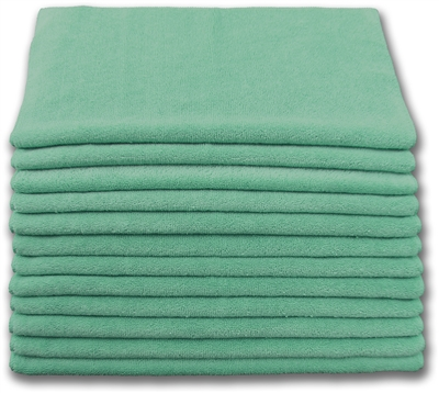 "Microfiber Cloths 16""x 16"" Green - Ech"