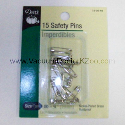 Safety Pins Nickel-plated brass Size 00 15pck