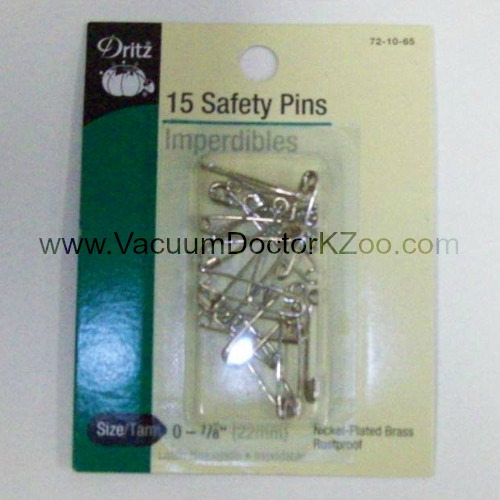 Safety Pins Nickel-plated brass Size 0 15pck