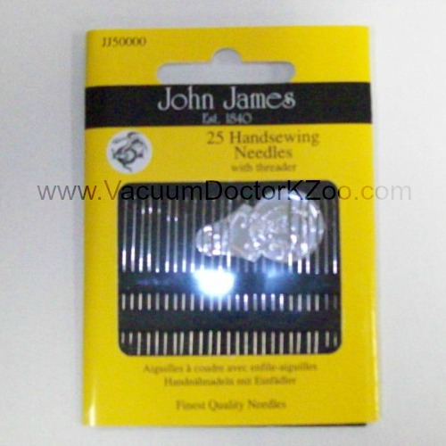 25 Hand Needles with Threader