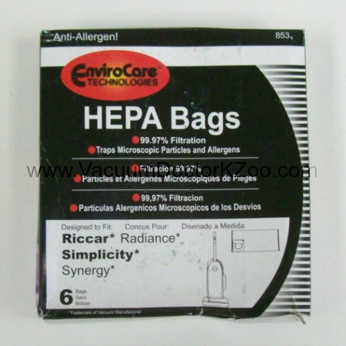Simplicity Synergy Riccar Radiance Bag Type X HEPA - Generic - 6 pck