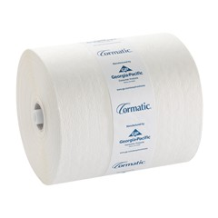 "GP Cormatic White Hardwound Roll Towels 8.25"" Non-Slot Rolls 6/case"