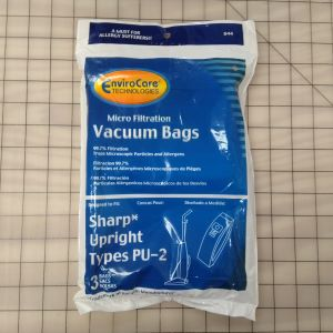 Sharp Bag Type PU-2 Micron - Generic - 3 pck
