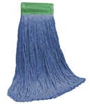 "16 OZ BLUE Blend CUT-END Wet Mop--5"" BAND"