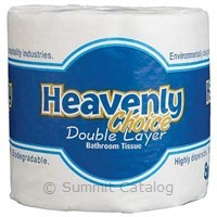 HEAVENLY CHOICE DOUBLE LAYER TOILET TISSUE 500-SHEETS 96/case